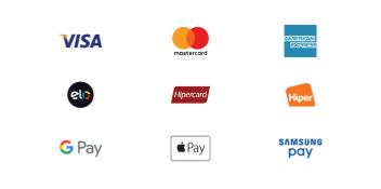 Principais bandeiras aceitas pela nova maquininha de cartão da conta MEI Fácil